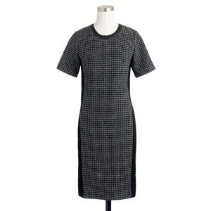 J. Crew mixed houndstooth shift dress